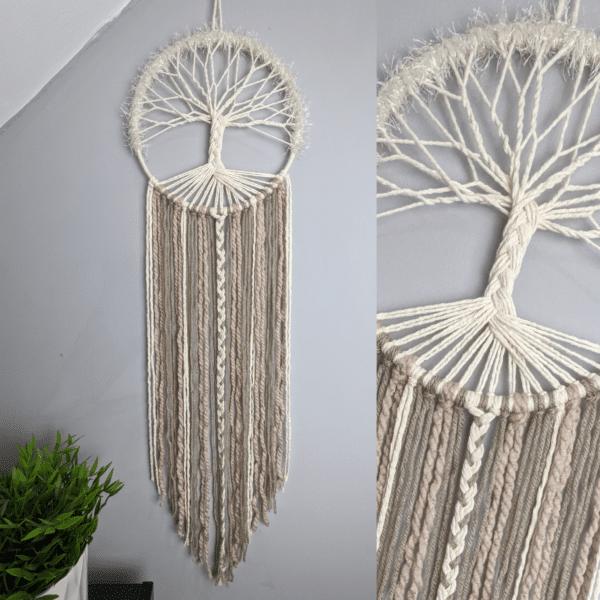 Tree Of Life Dream Catcher Boho Decor Wall Hanging - main product image