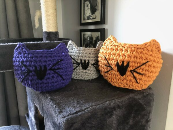 Hand Crocheted Cat Bowl - main product image