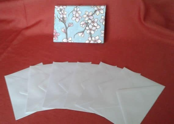 Poppies & Magnolia Handmade Notecards or Blank Cards – Set of 6 - product image 4
