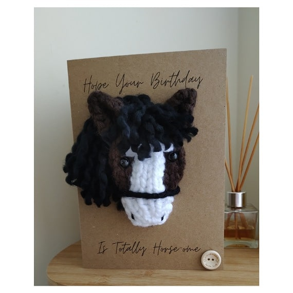 Knitted horse card - product image 2
