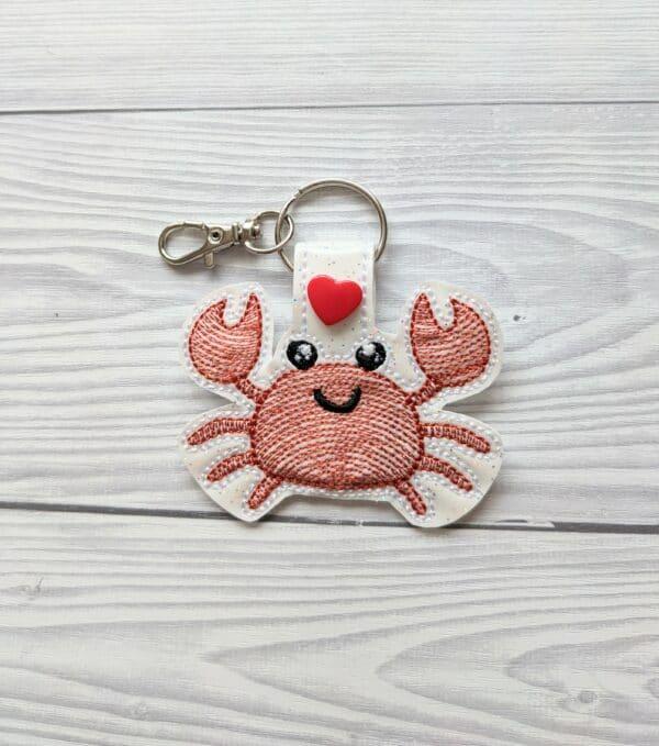 Cute Crab Keyring – Crab key fob – Crab keychain - main product image
