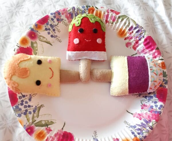Felt ice lollies play food/ decorations - product image 2