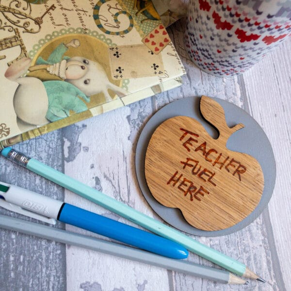 Teacher slogan coasters - main product image