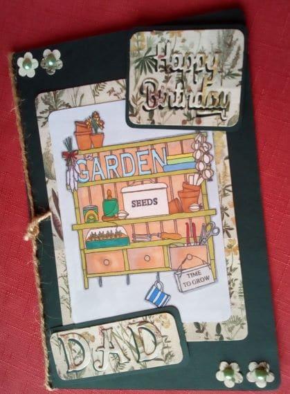 Happy Birthday Dad Card – Garden - product image 2