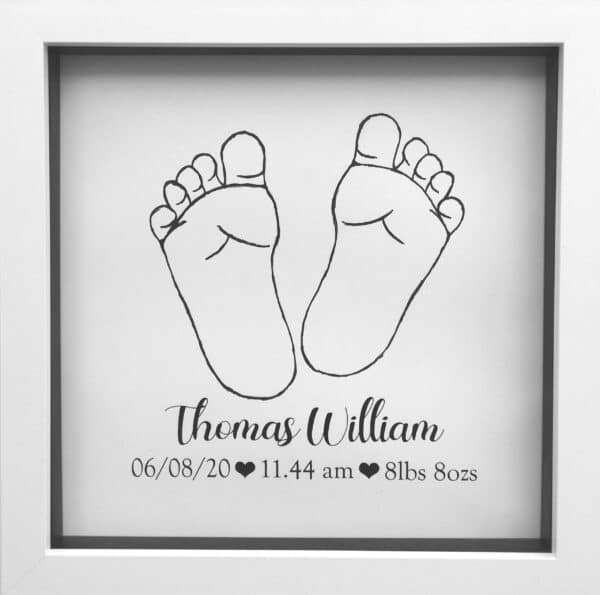 Baby footprint birth stats frame - product image 3