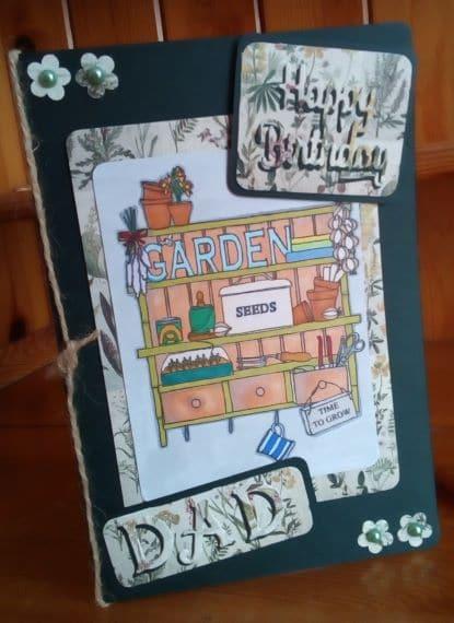 Happy Birthday Dad Card – Garden - main product image