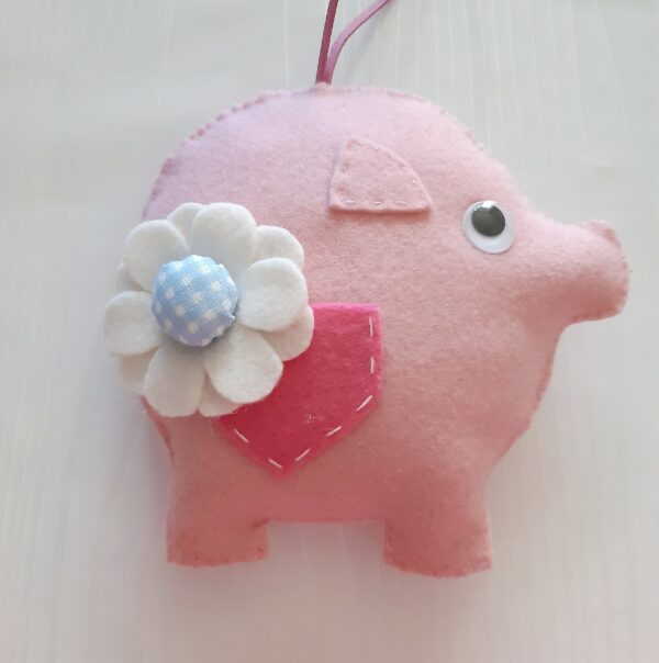Felt Momma pig and baby pig. - product image 3