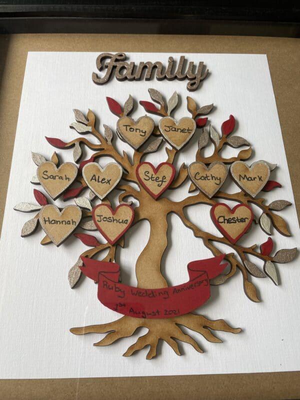Family Tree Box Frame - product image 2