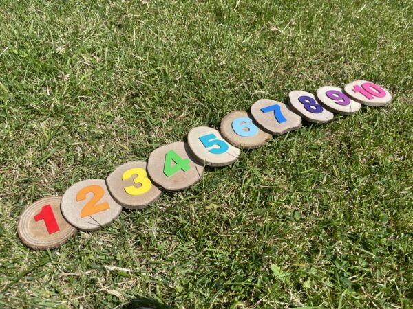 Perfectly imperfect rainbow wood cookies - product image 4