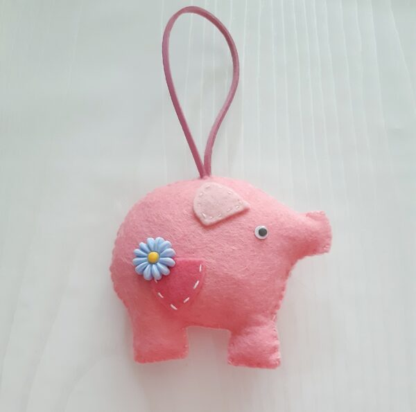 Felt Momma pig and baby pig. - product image 2