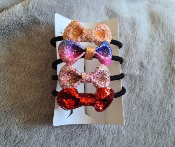 Faux leather bow bobbles - main product image