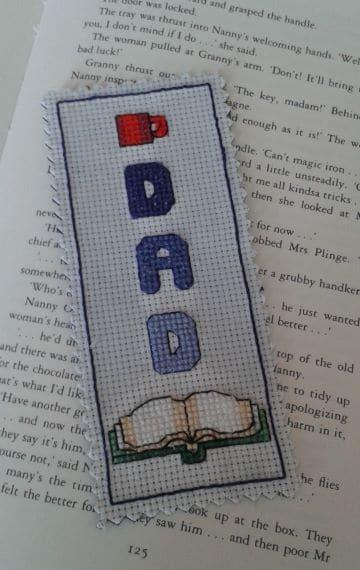 Dad Cross Stitch Bookmark - main product image