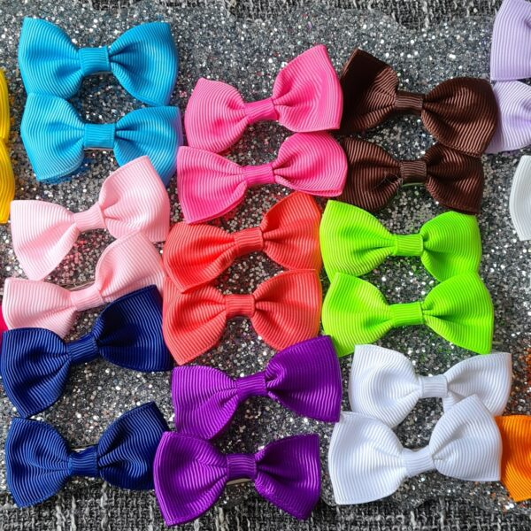 Grosgrain ribbon bow clips - main product image