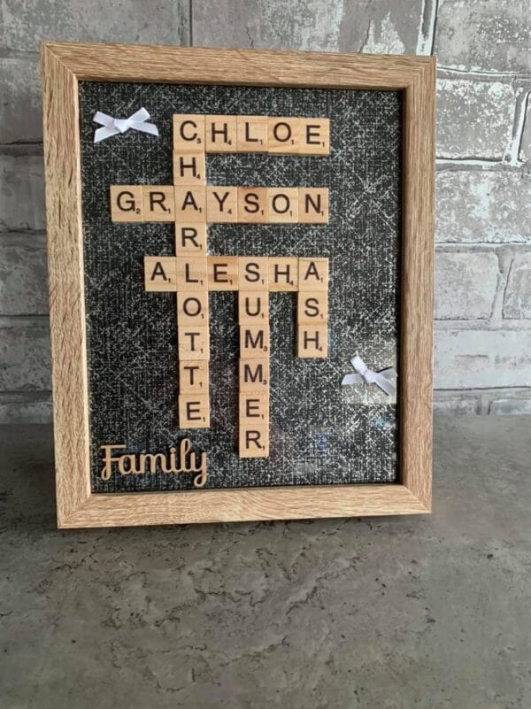 Personalised scrabble frame - main product image