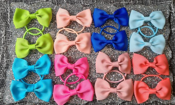 2.75 inches grosgrain ribbon bow bobbles - product image 2