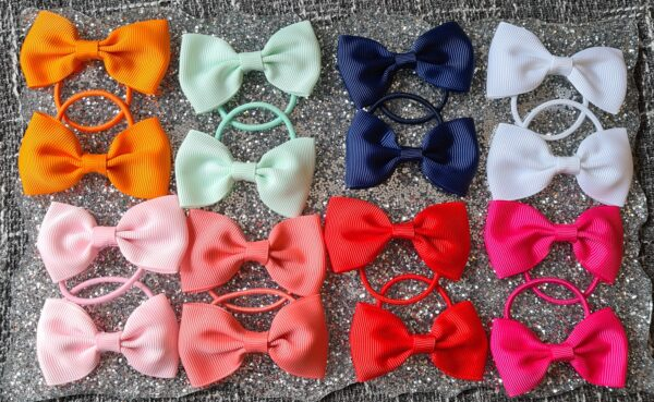 2.75 inches grosgrain ribbon bow bobbles - main product image