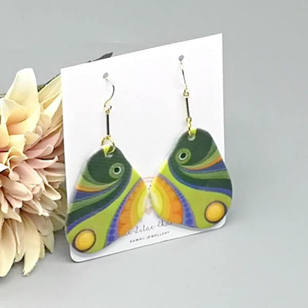 Abstract Art Fish Earrings - main product image