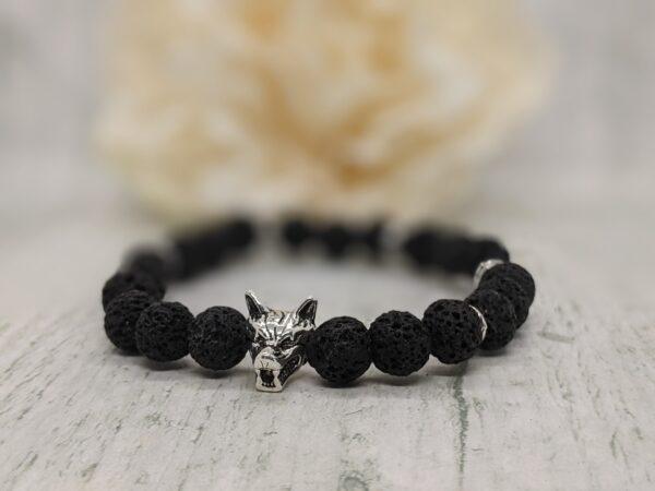 Natural Lava Stone Wolf Bracelet - product image 5