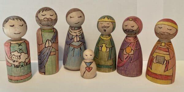 Peg people nativity - main product image