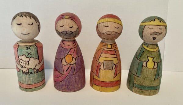 Peg people nativity - product image 3