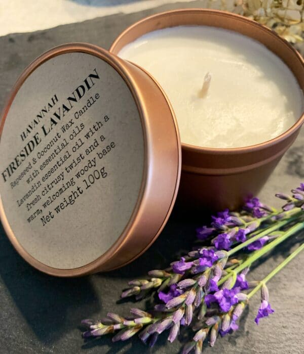 Fireside Lavandin rapeseed and coconut wax candle - product image 3
