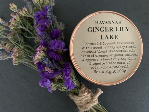 Havannah Ginger Lily Lake rapeseed and coconut wax blend candle - product image 2