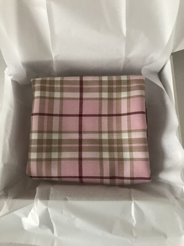 Pink check scarf - product image 2