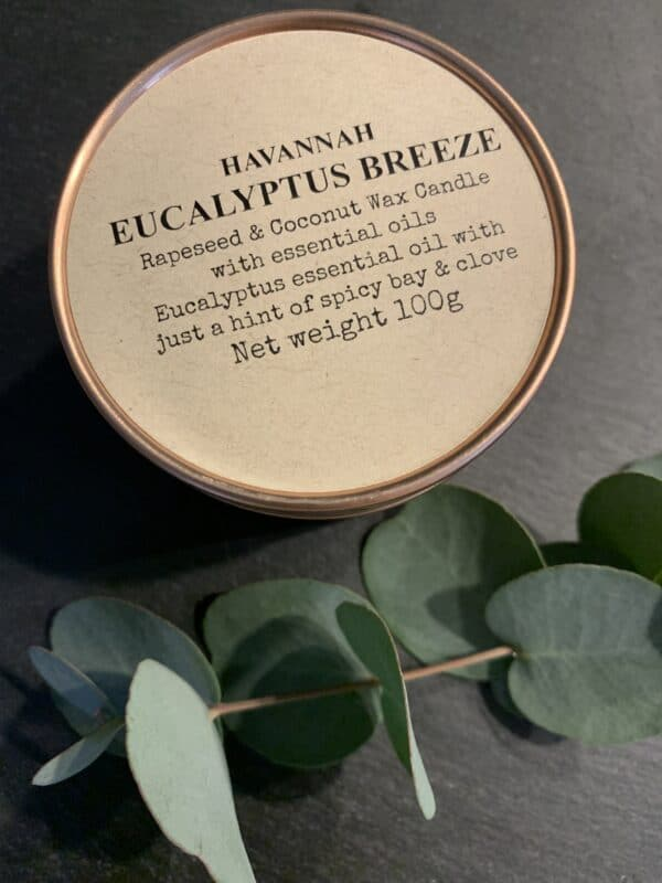 Eucalyptus Breeze rapeseed and coconut wax candle - product image 3