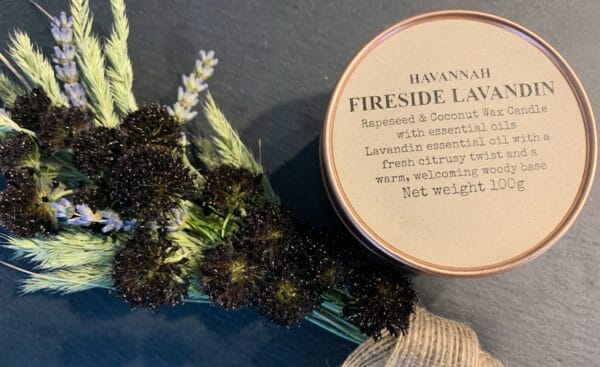 Fireside Lavandin rapeseed and coconut wax candle - product image 2