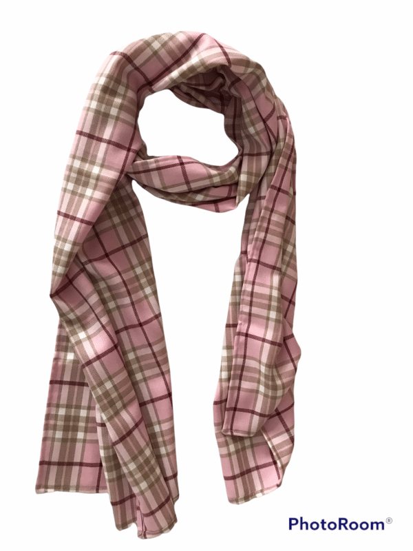 Pink check scarf - main product image