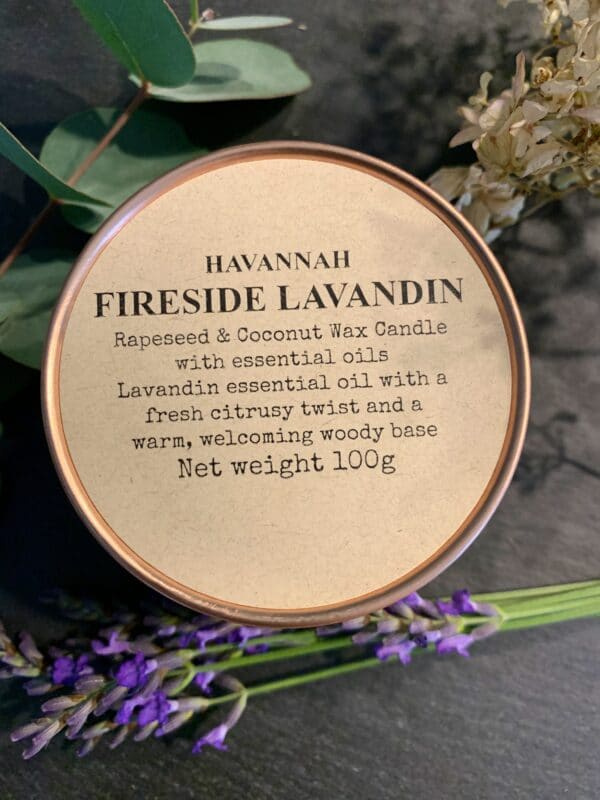 Fireside Lavandin rapeseed and coconut wax candle - main product image