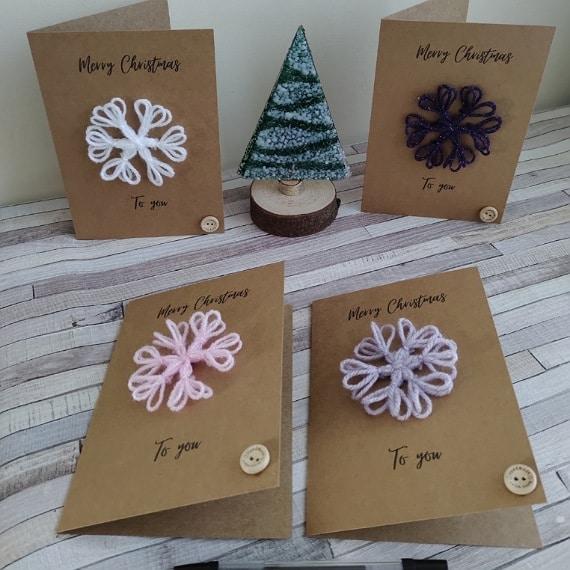 Snowflake Christmas cards - main product image