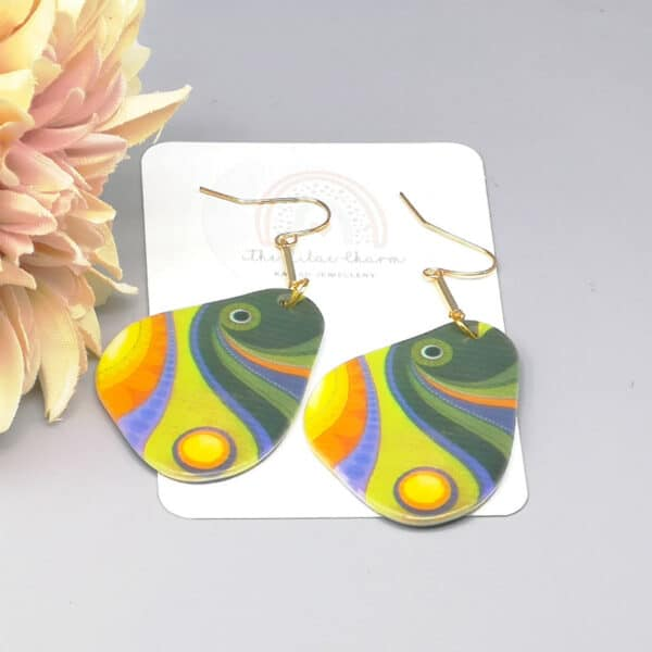 Abstract Art Fish Earrings - product image 2