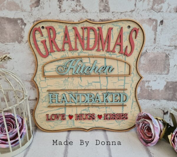 Grandmas kitchen plaque - main product image