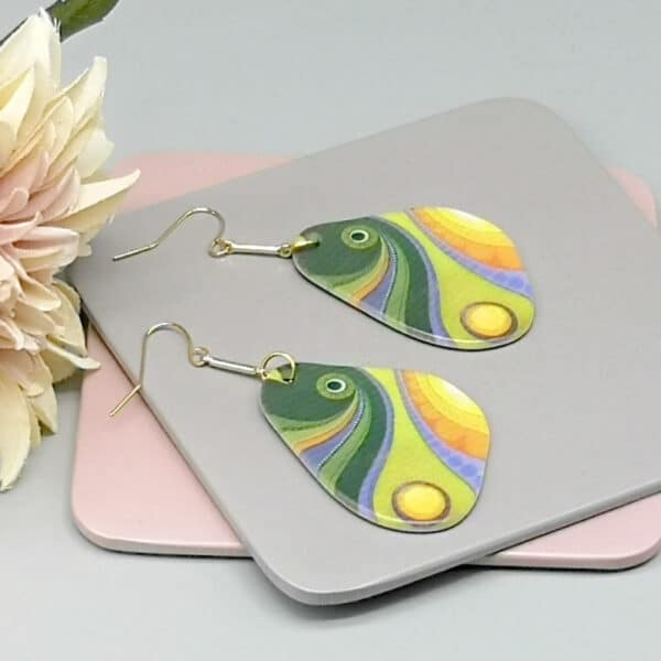 Abstract Art Fish Earrings - product image 3