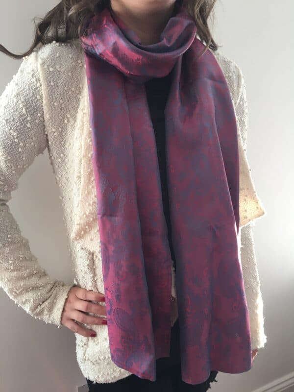 Red paisley scarf - main product image