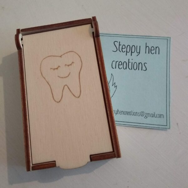 Small box for tooth fairy visit | Laser cut and engraved wood - main product image