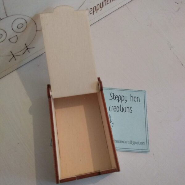 Small box for tooth fairy visit | Laser cut and engraved wood - product image 3