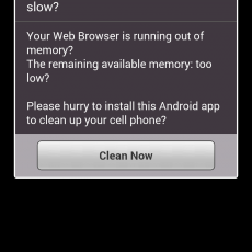 「Your Web Browser is too slow?」AndroidのChromeでWebページ閲覧中に突然謎のメッセージが表示された件