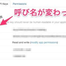 Twitter APIのConsumer Keyがいつの間にかAPI Keyという呼び名に変わっていた件