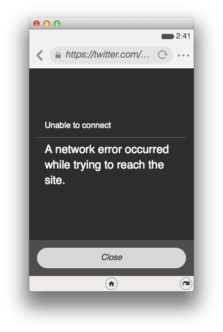 Firefox OSシミュレータ 2.0以降でTwitter.comに接続できない件 #FxOS