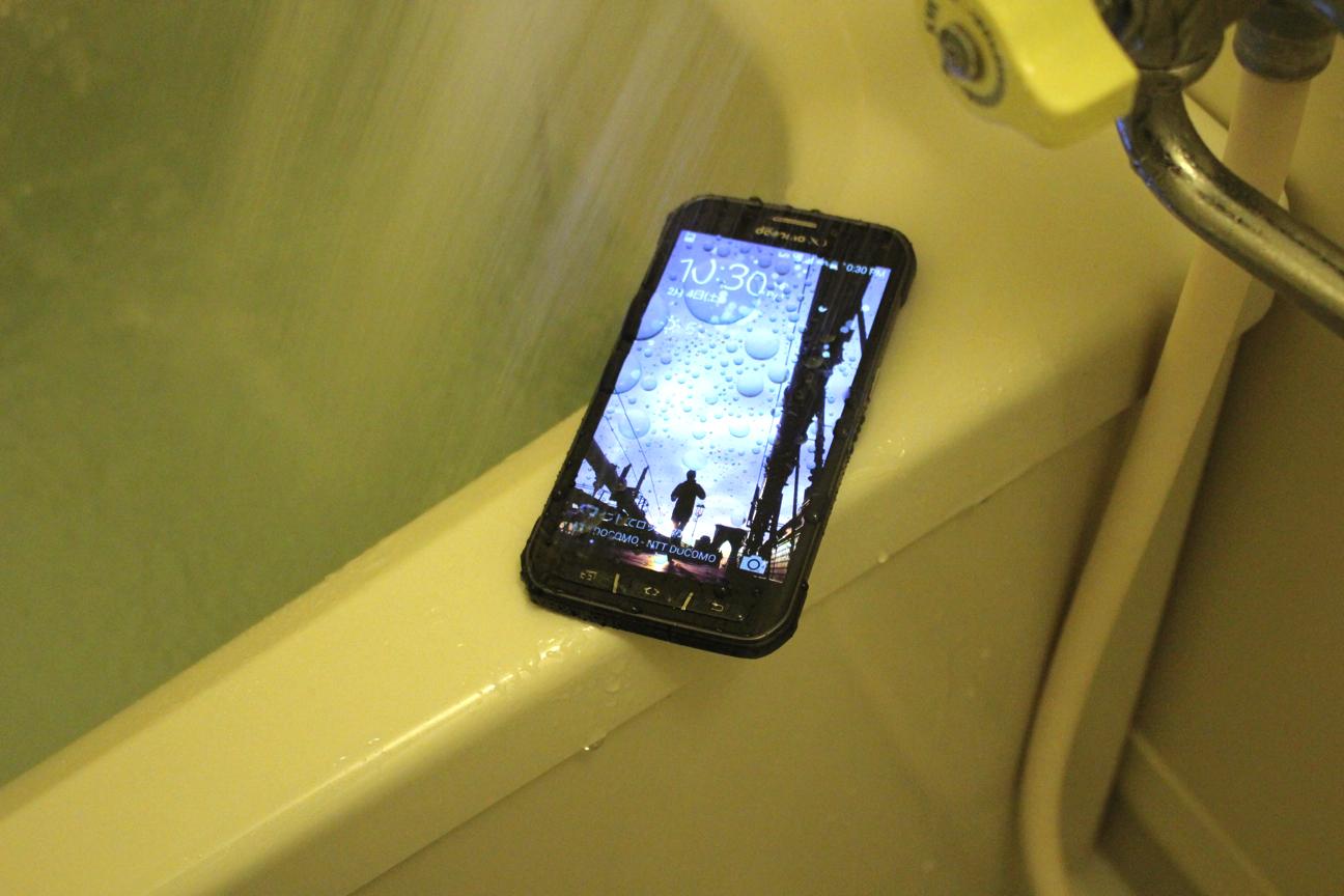 防水性能はいかほど?GALAXY S5 ACTIVEとお風呂に入ってみた結果