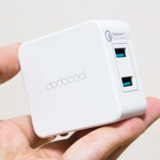 Quick Charge 3.0対応の2ポートUSB急速充電器『dodocool DA87WUS』レビュー