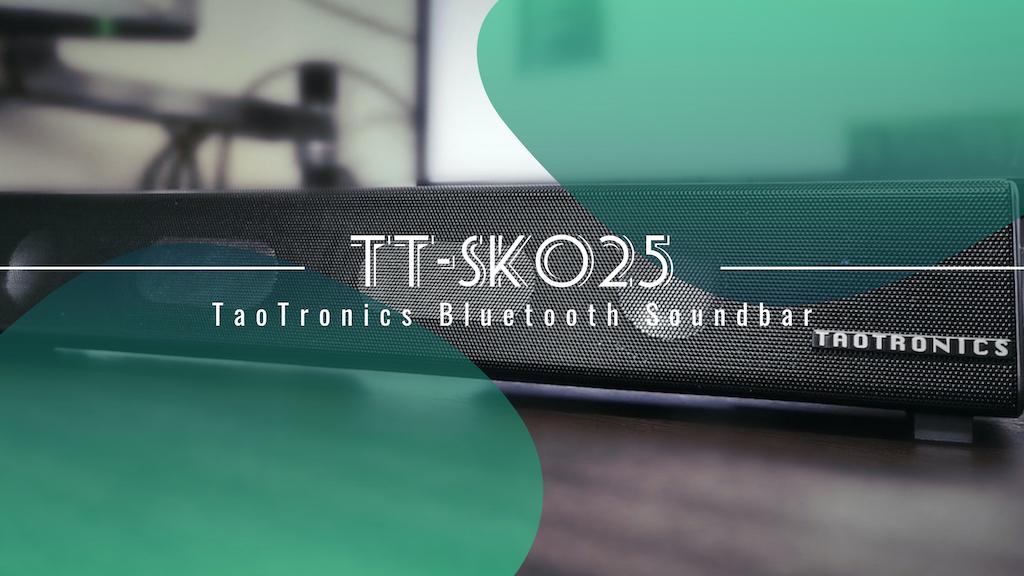 コンパクトで高コスパ。TaoTronics Bluetoothサウンドバー TT-SK025