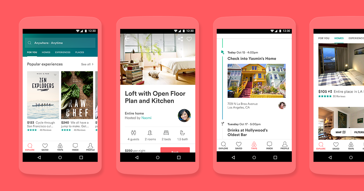 Image result for airbnb app