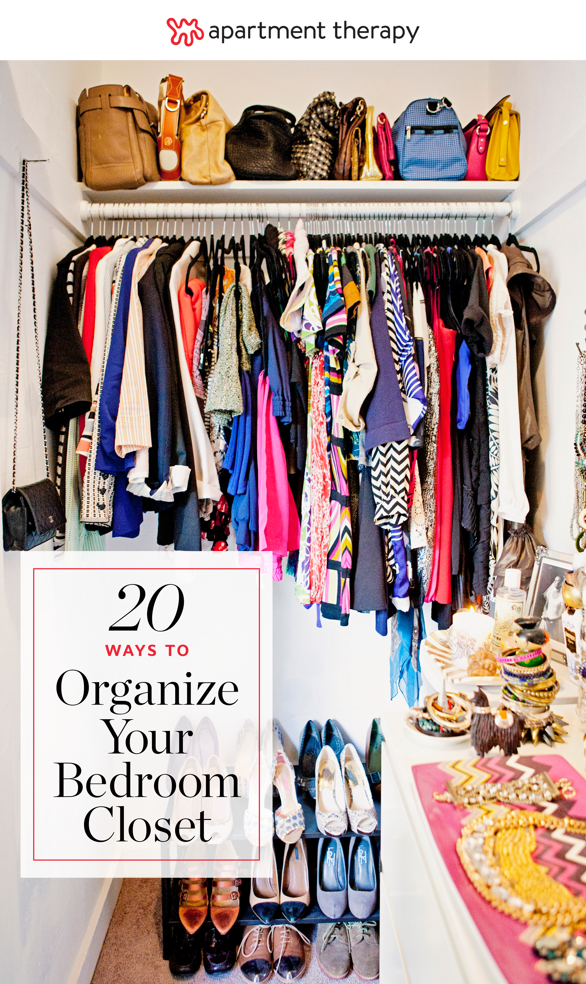 20 Ideas for Organizing Your Bedroom Closet | Apartment Therapy