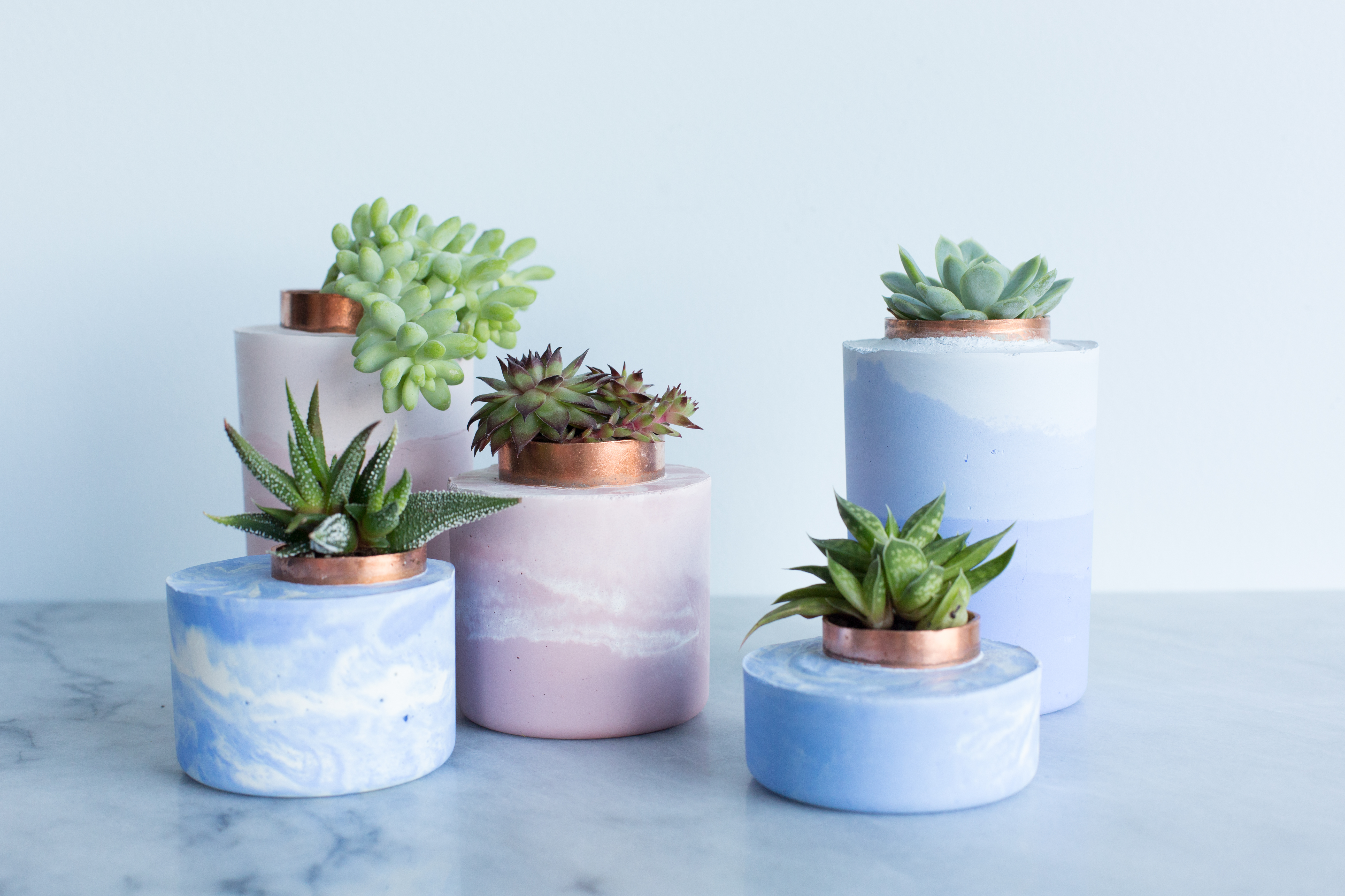 How To Make Modern Cement Planters Apartment Therapy