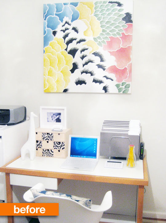 Before & After: Viv\'s Home Office Wallpaper Makeover ...