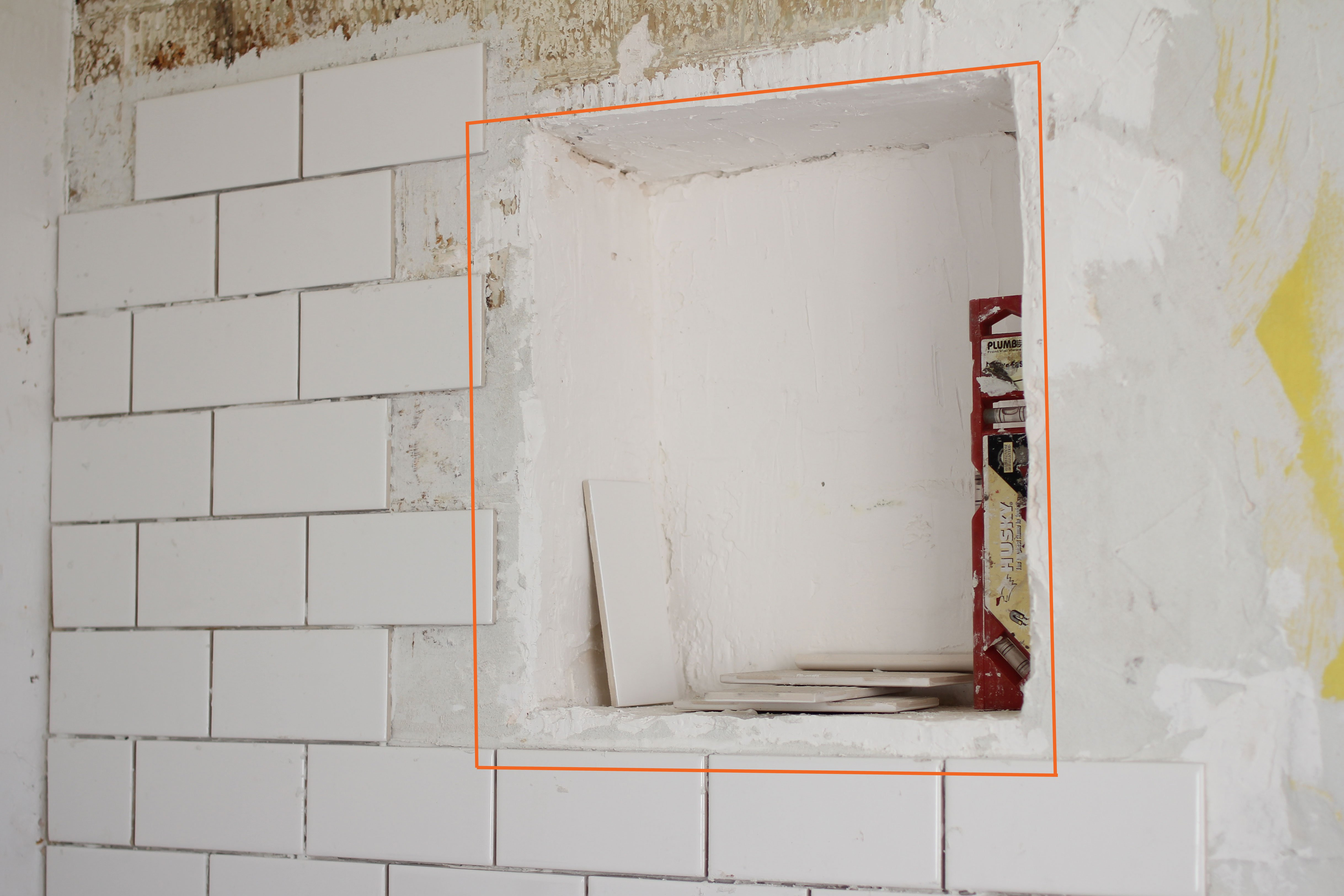 DIY Renovation Project: How To Build A Recessed Shower Shelf | Apartment  Therapy