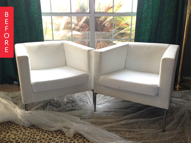 Verrassend Before & After: IKEA Club Chairs Get a Black & White Look for $40 MS-84
